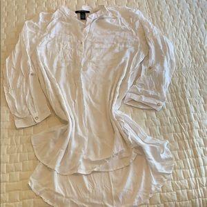 White long Blouse size 18. Ashley Stewart